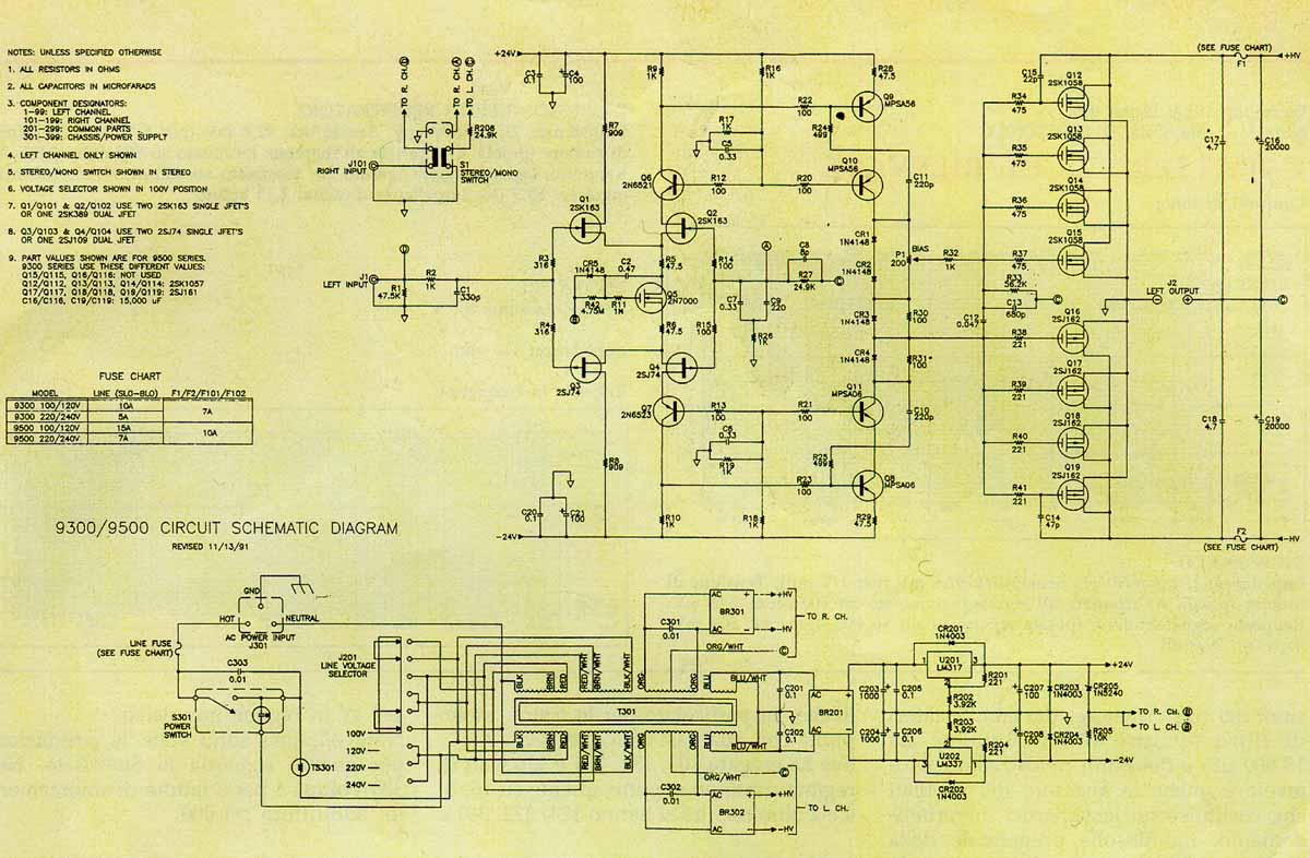 schematic info audio amplifiers Nad 2600A nad 2400 service manual